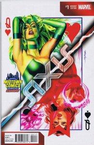 Avengers & X-Men AXIS #1 B Midtown Exclusive Mike Mayhew Good Girl Art GGA
