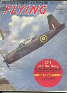 Flying 1/1943-Ziff-Davis-WWII era-aircraft pix & info-British fighter cover-G/VG
