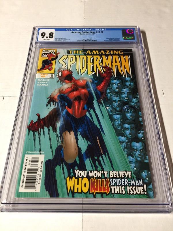 Amazing Spider-man 8 Cgc 9.8 Volume Vol V 2 1999 Series Legacy # 449