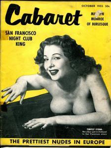 Cabaret 10/192-55-Tempest Storm- Dixie Evans-cheesecake pix-VG-