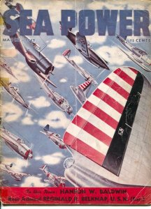 Sea Power 3/1942-Wings At War cover-Lester Greer-war pix &info-G