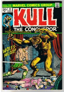 KULL the CONQUEROR 8, VF, Robert Howard, Wolf's Head, 1971, more in store