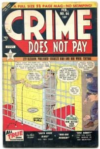 CRIME DOES NOT PAY #84-PRISON-CHARLES BIRO-PRE CODE VG/FN