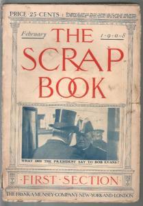 Scrap Book 2/1908-Munsey-Arthur B. Reeve-The Alamo-VG