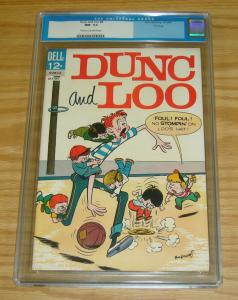 Dunc and Loo #8 CGC 9.2 last issue - file copy - dell comics - october 1963
