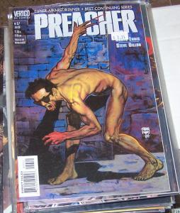 preacher  #57 vertigo dc 1999 garth Ennis high quality  PAINTED COVER BY FABRY