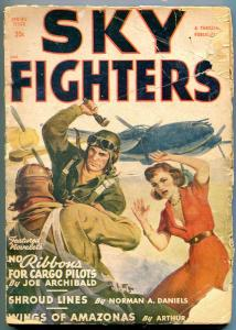 Sky Fighters Pulp Spring 1949- No Ribbons for Cargo Pilots- Shroud Lines