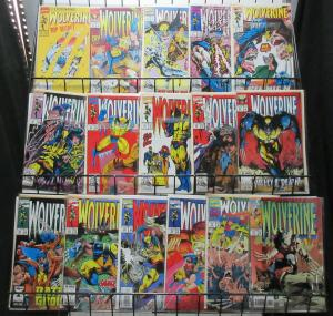 Wolverine (Marvel 1992-94) #50, 51, 60-69, 73, 74, 75, 77 Lot Snickt X-Man Tales