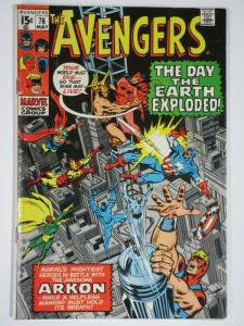 AVENGERS 76 VERY GOOD- May 1970 Arkon COMICS BOOK