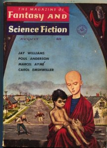MAGAZINE OF FANTASY AND SCIENCE FICTION-August1959-Science Fiction Pulp Thrills