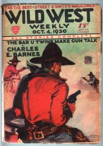 WILD WEST WEEKLY-10/4/1930-PULP-COOL COVER VG
