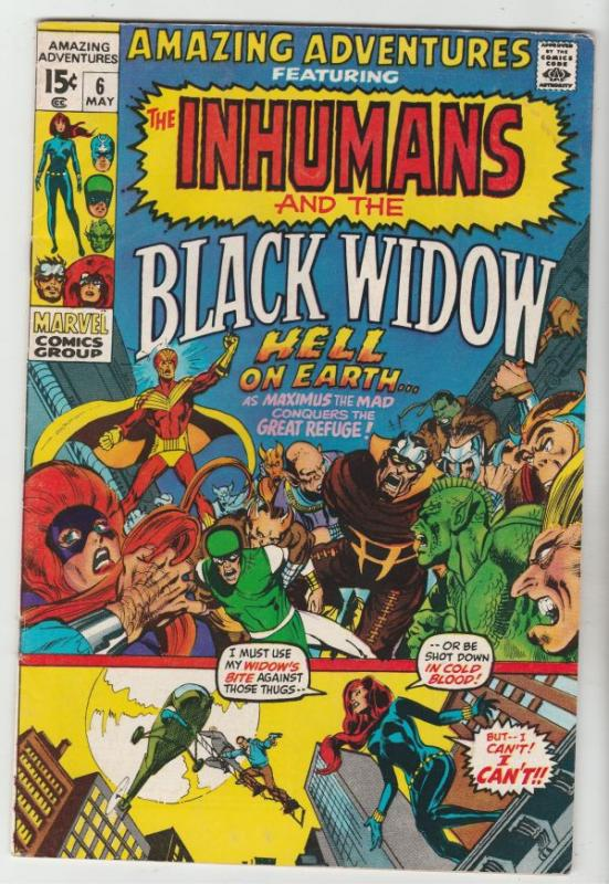 Amazing Adventures #6 (May-71) VG+ Affordable-Grade Black Widow, Inhumans