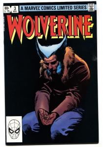Wolverine Limited Series #3 Marvel 1982 comic book black cover