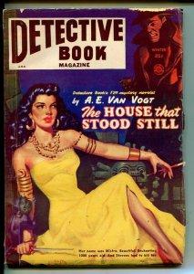 DETECTIVE BOOK-WINT1951-A.E. VAN VOGT-ALLEN ANDERSON ART-PULP STORIES-vg