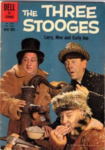 Four Color #1078 (Feb-60) VG Affordable-Grade Larry, Moe, Curly-Joe