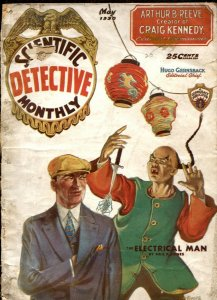 Scientific Detective Monthly #5 5/1930- Electrical Man- Asian Menace cover