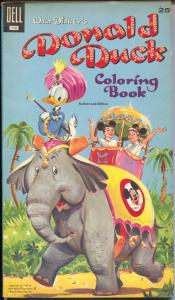 Donald Duck Coloring Book - Walt Disney #116 1957-Dell-Mickey Mouse Club-VF