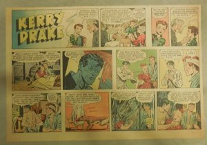 Kerry Drake Sunday by Alfred Andriola from 11/14/1943 Half Page Size! Year #1