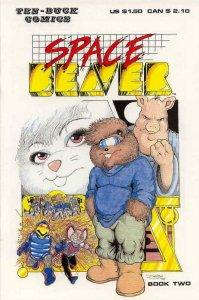 SPACE BEAVER #2, VF/NM, Darick Robertson, Ten Buck, 1986  1987 more in store