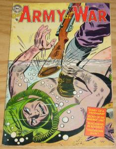 Our Army At War #27 FN- october 1954 - golden age dc comics - frogman cover