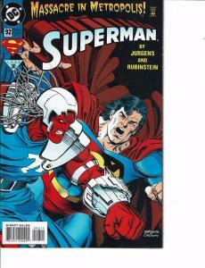 Lot Of 2 Comic Books DC Superman #92 and #86 Batman Flash  0N8