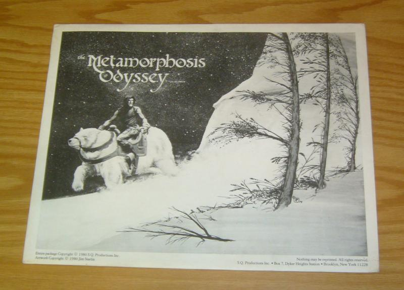 Metamorphosis Odyssey Portfolio by Jim Starlin - dreadstar prints - sqp 1980 set