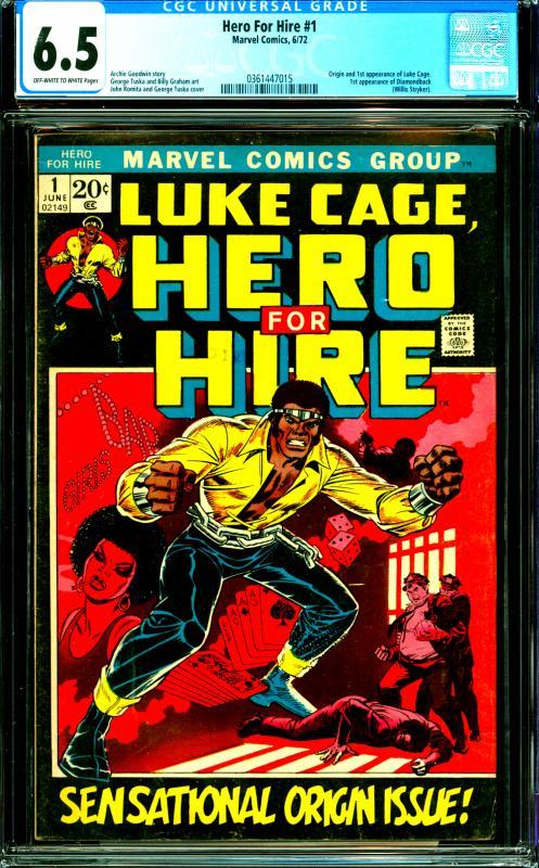 Hero for Hire #1 Luke Cage 1st Appearance & Origin, 1st Diamondback