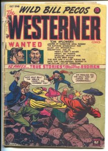 Westerner #16 1948-Patches-Wild Bill Pecos-skull horror splash panel-P