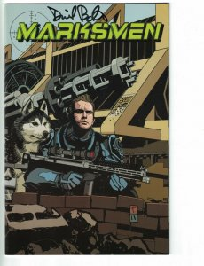 Marksmen #1 VF/NM San Diego Comic-Con Exclusive Cover signed by David Baxter
