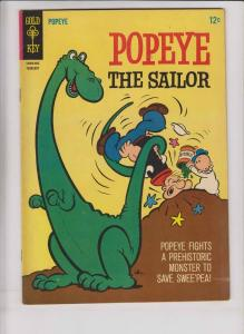 Popeye the Sailor #79 VF- february 1966 - dinosaur cover - swee'pea spinach