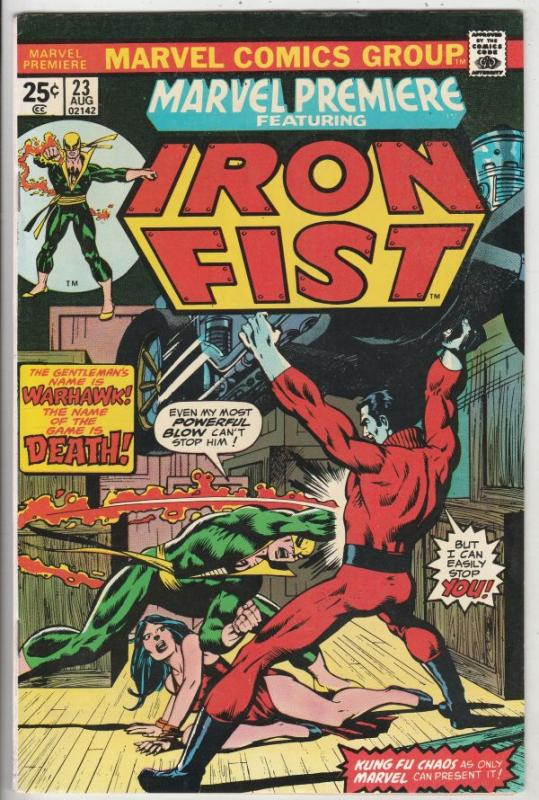 Marvel Premier #23 (Jan-75) VF/NM High-Grade Iron Fist