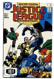 Justice League International #13-1988-JLA vs Suicide Squad-Booster Gold