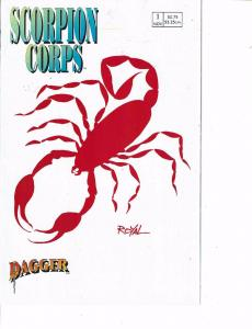 Lot Of 2 Comic Books Dagger Scorpion Corps #1 and Eclipse 3D Aliem Terror #1 ON7