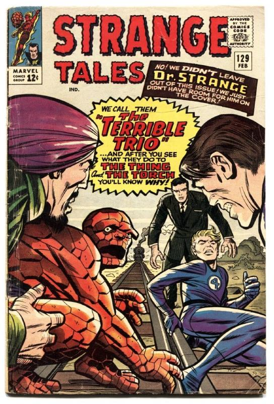 STRANGE TALES #129 comic book 1965-HUMAN TORCH-THING-STEVE DITKO