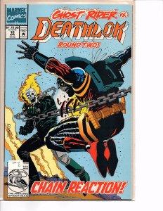 Marvel Comics Deathlok #10 Ghost Rider NM Denys Cowan