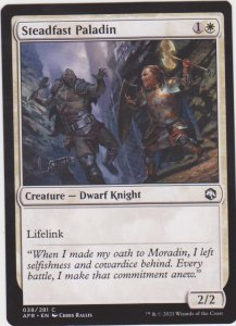 Magic the Gathering: Adventures in the Forgotten Realms - Steadfast Paladin