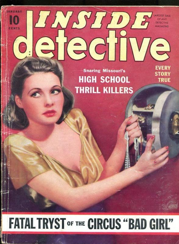 INSIDE DETECTIVE-01/1941-THRILL KILLERS-FATAL TRYST-HYPNOTIC SLAYER G