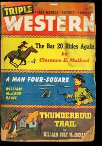 TRIPLE WESTERN 1947 FALL HOPALONG CASSIDY  PULP  BAR 20 P/FR