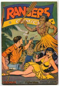 Rangers Comics #35 1947- Headlight cover- Firehair- Tiger Man FN-
