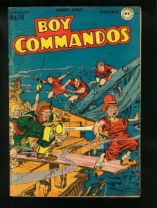 BOY COMMANDOS #14 1946-SIMON & KIRBY PIRACY COVER-WWII STORY-  vg/fn VG/FN