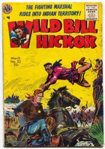 Wild Bill Hickok #22 1955-Avon-Kinstler cover-1st code issue VG