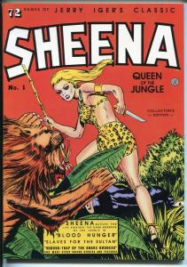 Jerry Iger's Classic Sheena #1 1985-reprint-Good Girl Art-spicy poses-NM