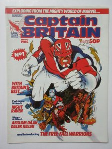 Captain Britain (Marvel UK vol 2 January 1985)  #1 w Doctor Who Dalek Killer
