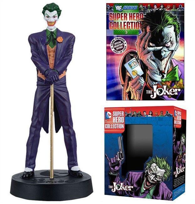 DC Superhero Collection #4 Joker Figure w/Booklet (Eaglemoss, 2015) New!