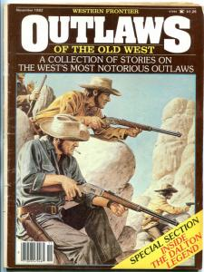 Outlaws of the Old West Magazine November 1982- Quantrill- Billy the Kid VG
