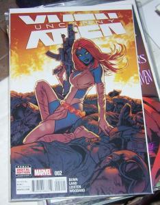 UNCANNY X-MEN  2  2016  marvel  vol 4 greg land variant  mystique magneto