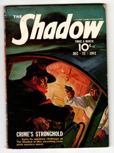 SHADOW 1941 DEC 15- STREET AND SMITH-RARE PULP MAGAZINE
