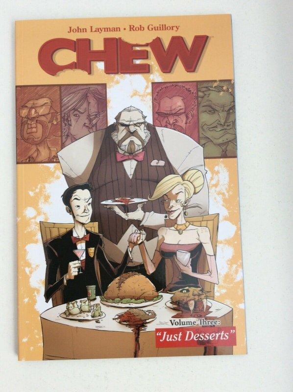CHEW VOL.THREE: JUST DESSERTS SIGNED BY CREATOR JOHN LAYMAN WITH COA TPB.