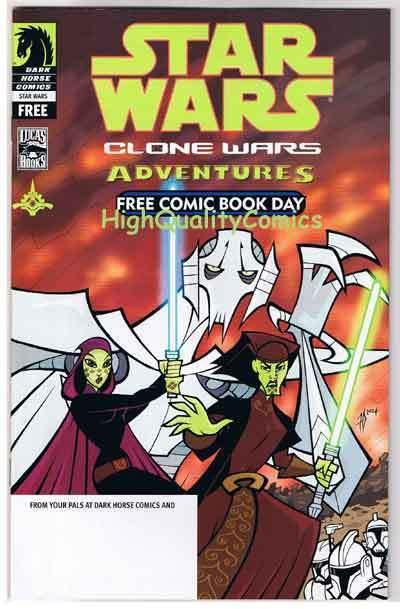 STAR WARS CLONE WARS Adventures, NM+, FCBD, 2004, Movie, more SW in store