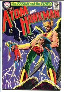 THE ATOM AND HAWKMAN #40 1969 Joe Kubert-Classic art! VG+